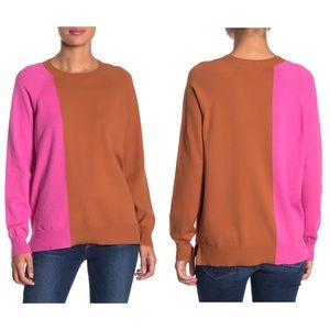 14th & Union   Colorblock Pullover Sweater Petite